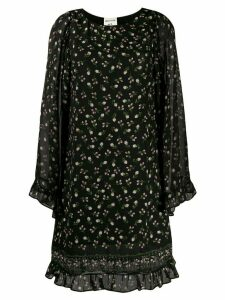 Semicouture Camp floral frill dress - Black