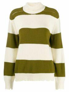 Riccardo Comi striped turtleneck jumper - White