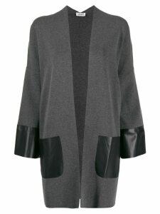 LIU JO oversized contrast panel cardigan - Grey