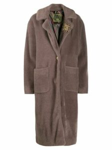Alessandra Chamonix button-front coat - NEUTRALS