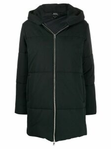 A.P.C. hooded padded coat - Blue