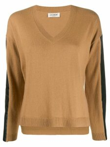 Twin-Set faux leather-panelled jumper - Brown