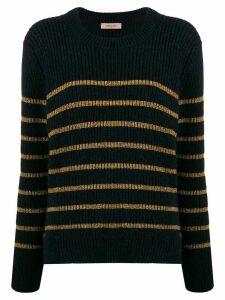 Twin-Set striped pattern sweater - Blue