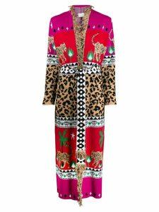 Hayley Menzies Leopardess jacquard cardi-coat - Pink