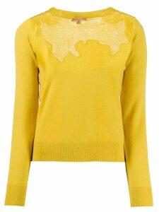 Ermanno Scervino lace panel jumper - Yellow