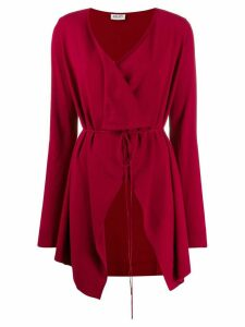 LIU JO wrap-style cardi-coat - Red