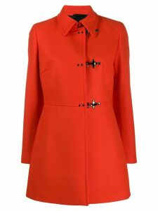 Fay toggle fastening coat - Orange