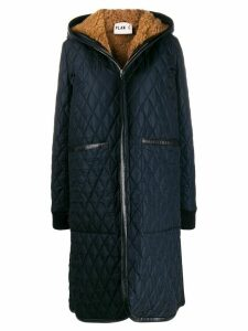 Plan C long quilted coat - Blue