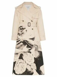 Valentino x Undercover Lovers print trench coat - Neutrals