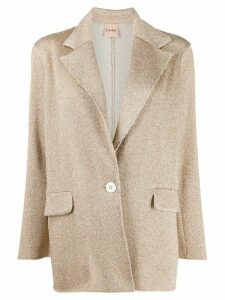 Nude metallic knit blazer - Neutrals