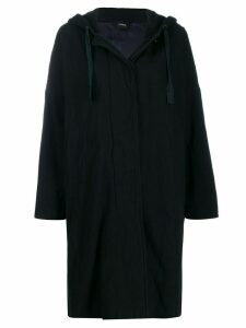 Aspesi long hooded coat - Blue