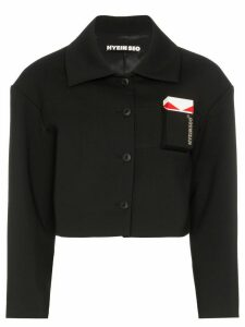 Hyein Seo cropped shirt jacket - Black