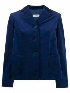 Alberto Biani single-breasted velvet blazer - Blue