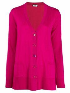 LIU JO loose-fit knit cardigan - Pink