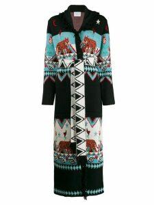 Hayley Menzies Tigress jacquard cardi-coat - Black