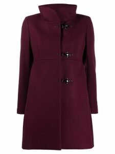 Fay single breasted coat - Red