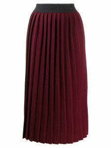 Fabiana Filippi high-rise pleated skirt - Red