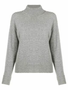 Theory whipstitch turtleneck sweater - Grey