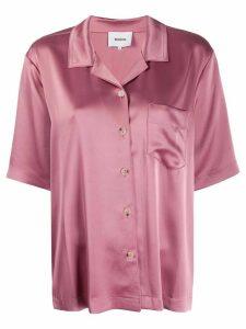 Nanushka Naraz satin-crepe shirt - PINK