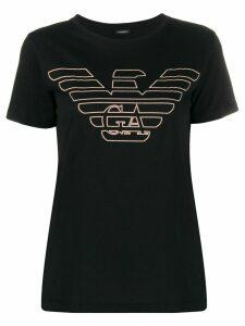 Emporio Armani textured logo T-shirt - Black