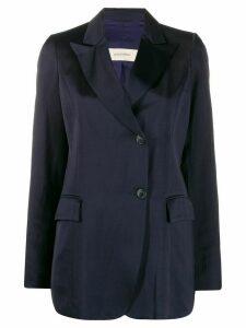 Gentry Portofino satin blazer - Blue