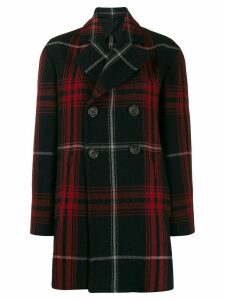 Vivienne Westwood Anglomania checked short coat - Black