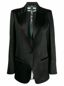 Off-White satin finished peaked lapel blazer - Black
