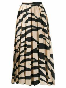 Erika Cavallini zebra print midi skirt - Neutrals