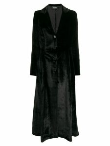Andrea Ya'aqov velvet long coat - Black