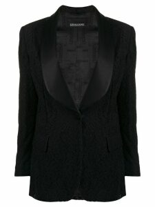 Ermanno Scervino lace detail blazer - Black