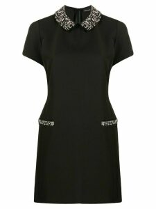 Ermanno Scervino fitted embellished collar dress - Black