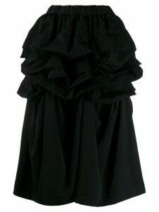 Comme Des Garçons Comme Des Garçons ruffle trim skirt - Black