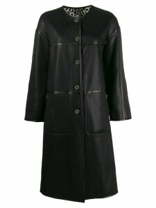 Urbancode reversible single-breasted coat - Black