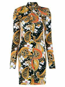 Richard Quinn paisley print mini dress - Black
