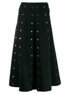 Christopher Kane snap crepe skirt - Black
