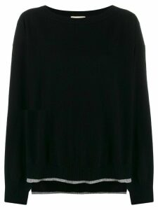 Semicouture long-sleeve flared jumper - Black