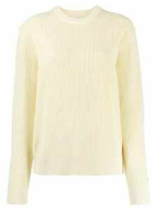 Calvin Klein Jeans ribbed knit jumper - Yellow