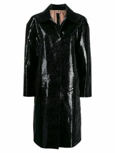 Nº21 snakeskin effect coat - Black