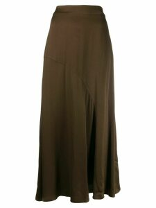 Essentiel Antwerp bias cut midi skirt - Green