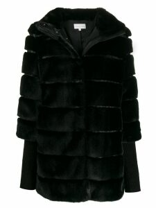 Patrizia Pepe zipped faux-fur coat - Black