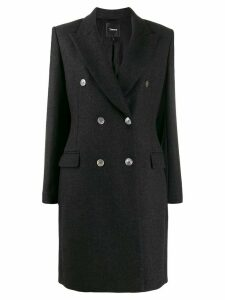 Theory double-breasted coat - Black