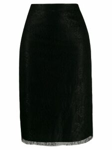Red Valentino Dentelle Fleurs lace pencil skirt - Black