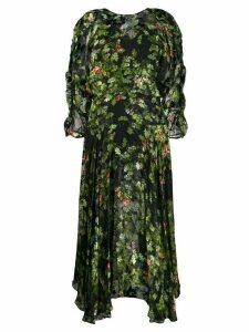 Preen By Thornton Bregazzi flared floral-print dress - Green