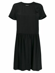 Calvin Klein Jeans pleated T-shirt dress - Black