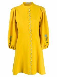 Vivetta scallop-trim floral dress - Yellow