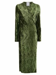 Black Coral Claire wrinkled-effect dress - Green