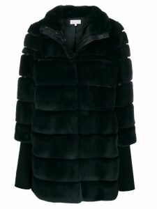 Patrizia Pepe oversized faux-fur coat - Blue