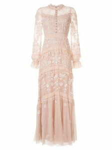 Needle & Thread Ava lace-trimmed tulle dress - Pink