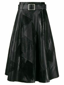 Golden Goose Minageshi patchwork midi skirt - Black