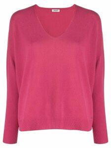 LIU JO v-neck knit sweater - PINK
